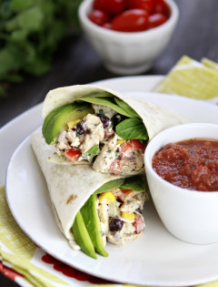 mexican chicken salad wrap