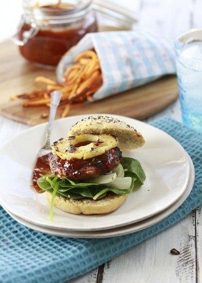 teriyaki bbq sauce and grilled turkey burger