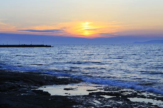long walks on the beach in crete