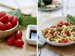 recipe for caprese salad pasta with tomatoes and basil