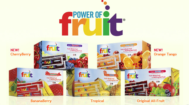 power of fruit bars giveaway