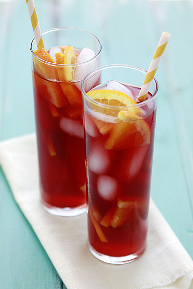 Raspberry Tangerine Iced Tea