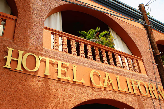hotel california sign