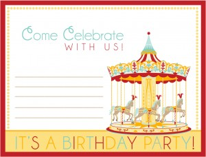 free printable carnival birthday party invite