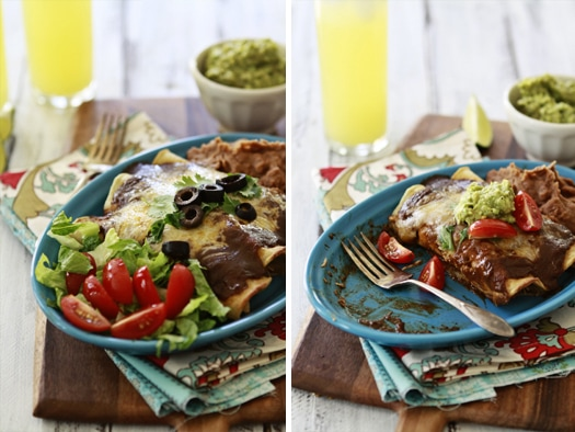 Chicken Enchiladas with Homemade Chile Gravy Enchilada Sauce