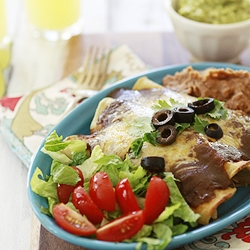 Chicken Enchiladas with Homemade Chile Gravy Enchilada Sauce | Good ...