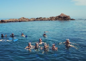 photos of snorkeling in isla espiritu santo