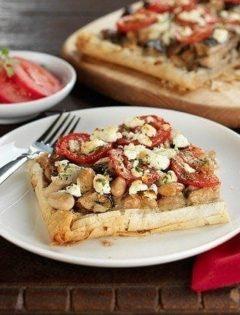 white bean and mushroom tart