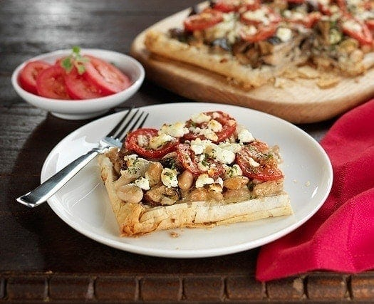 white bean and mushroom tart