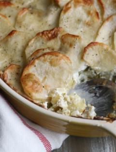 artichoke leek and potato casserole