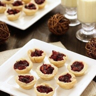 bite sized mini cranberry walnut tarts yield 48 bite sized tarts