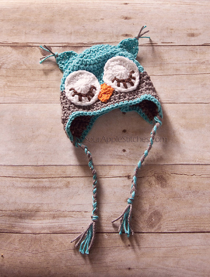 custom crochet owl hat