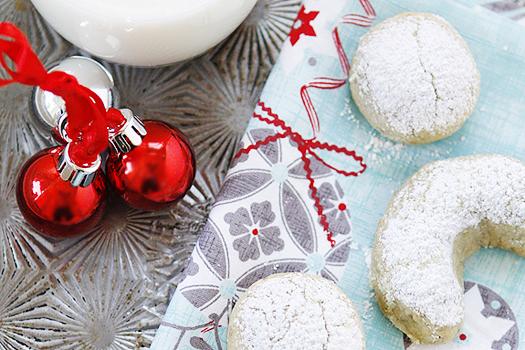 Pistachio Orange Crescent Cookies
