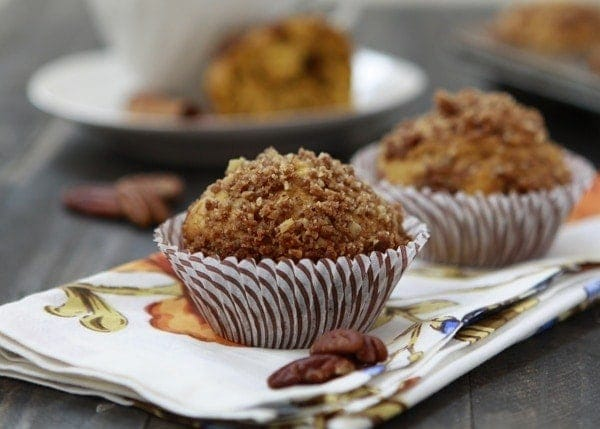Orange Spice Pumpkin Muffins with Pecan Streusel | One of our new favorite treats for breakfast or an afternoon snack are these Orange Spice Pumpkin Muffins with Pecan Streusel. I love baking with fall spices. They're so warm and cozy, especially on a cold and windy day like today, and make the house smell so nice.