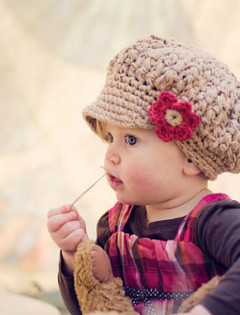 slouchy toddler crochet hat