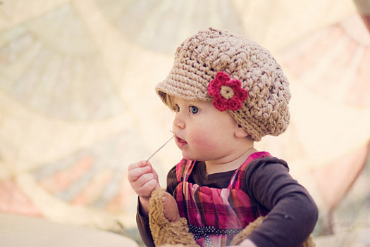 3cf3a6e8095 5 Knit or Crochet Hats for Little Girls on Etsy