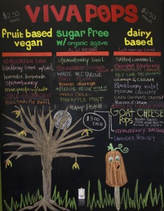 viva pops menu normal heights san diego