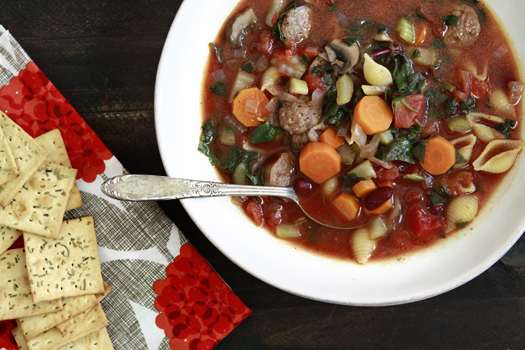Winter Minestrone Soup with Swiss Chard and Sausage | Good ...