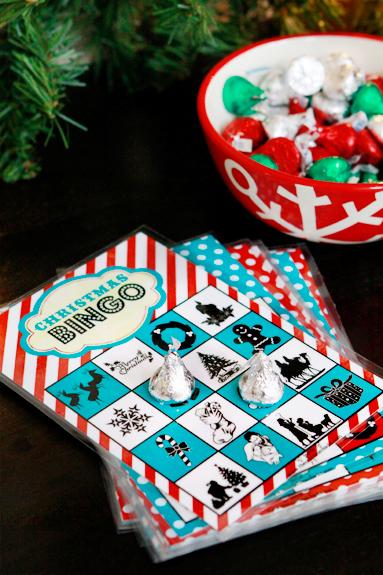 christmas book bingo game