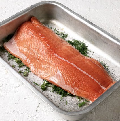 norwegian salmon gravlax