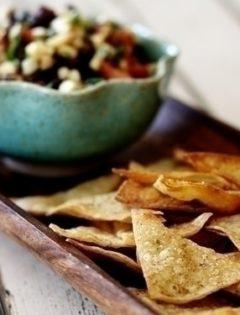 cumin lime baked tortilla chips