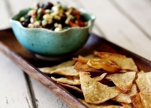 cumin lime baked tortilla chips