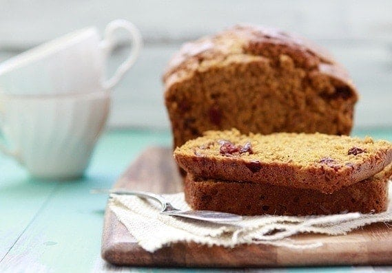 Multi-Grain Pumpkin Cranberry Bread | Want to experiment with Grinding Your Own Flours and Using Whole Grains? This recipe for Multi-Grain Pumpkin Cranberry Bread is a great place to start!