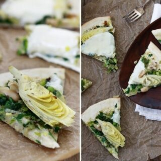 Artichoke Spinach Pizza with White Beans – Good Life Eats