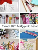 8 cute DIY bookmark ideas