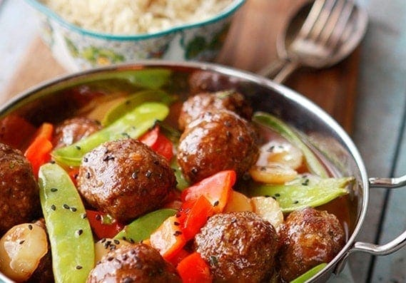Sweet and Sour Asian Meatballs