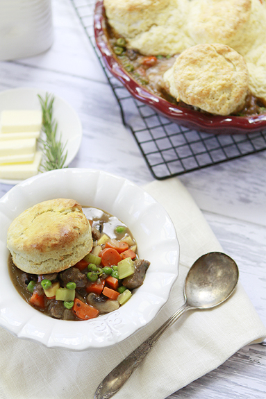 ... and Vegetable Pot Pie with Rosemary Biscuit Crust | Good Life Eats