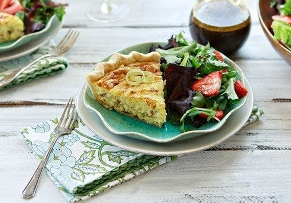 Quiche Lorraine is a perfect springtime egg dish.