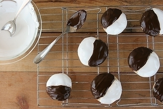 black and white smores cookies