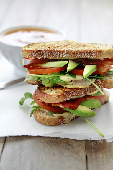 Avocado Tomato Bacon Grilled Cheese