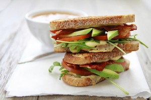 gourmet grilled cheese - grilled cheese with bacon tomato avocado