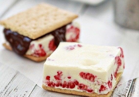 Raspberry Ice Cream Sandwiches | Good Life Eats