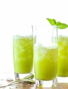 Sparkling Pineapple Mint Juice Sylvie Shirazi