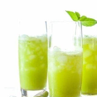 Sparkling Pineapple Mint Juice
