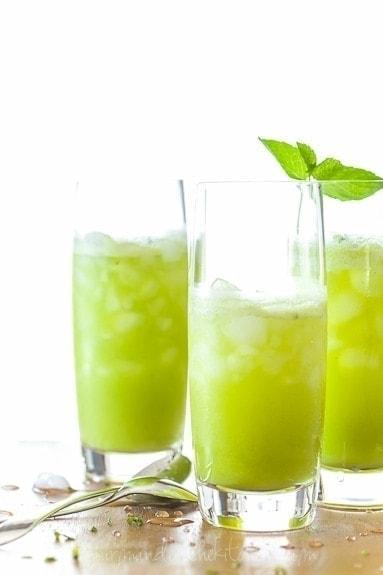 Sparkling Pineapple Mint Juice Sylvie Shirazi