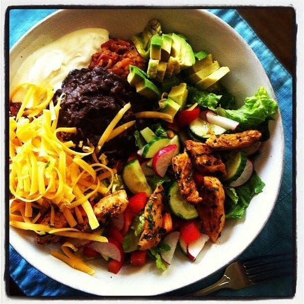 Taco Salad Bowls With Homemade Spanish Rice Recipes — Dishmaps