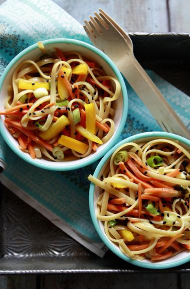 easy sesame noodle pasta salad lunch