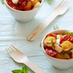 roasted tomatoes caprese salad recipe
