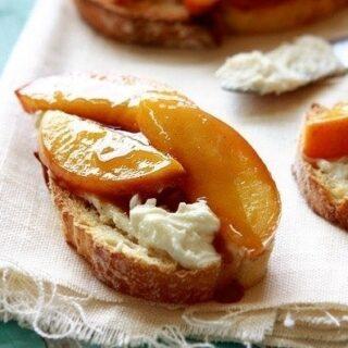 Roasted Peach Crostini