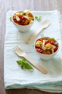 roasted tomatoes recipe caprese salad