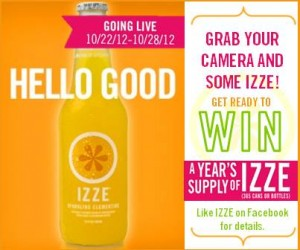 Win a YEAR Supply of IZZE
