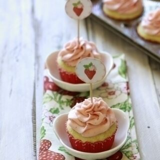 Fresh Strawberry Lime Cupcakes