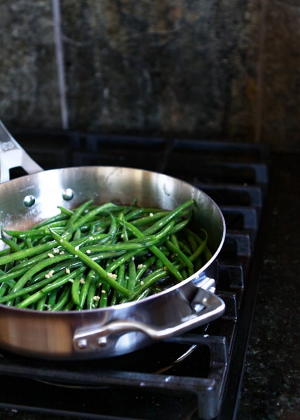 sauteed garlic green bean recipe
