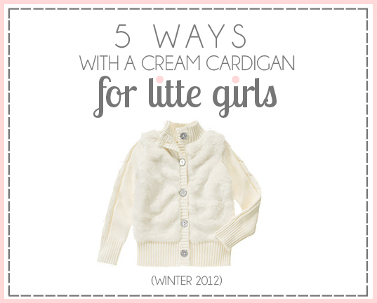 5 Ways with a Cream Cardigan Gymboree Giveaway