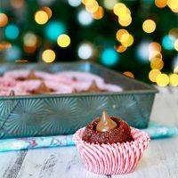 Chocolate Cherry Cordial Thumbprint Cookies