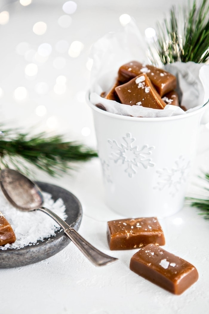 Gingerbread Caramels are a fun twist on a classic caramel recipe.  Caramel pairs awesomely with hints of molasses and ginger.